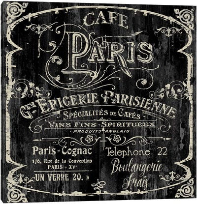 Paris Bistro VI Canvas Art Print