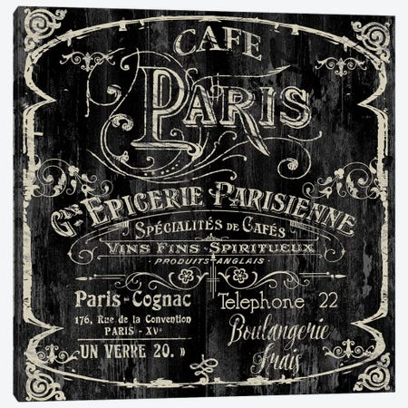 Paris Bistro VI Canvas Print #CBY717} by Color Bakery Canvas Art Print
