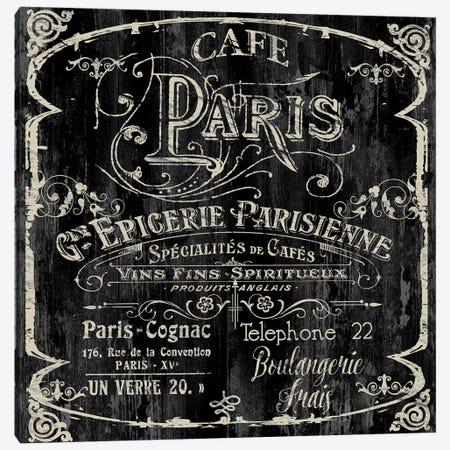 Paris Bistro VI Canvas Print #CBY717} by Color Bakery Canvas Art Print