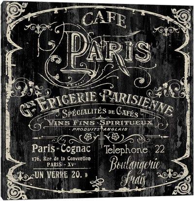 Paris Bistro VI Canvas Art Print