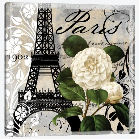 Paris Blanc I Canvas Print #CBY718} by Color Bakery Canvas Wall Art