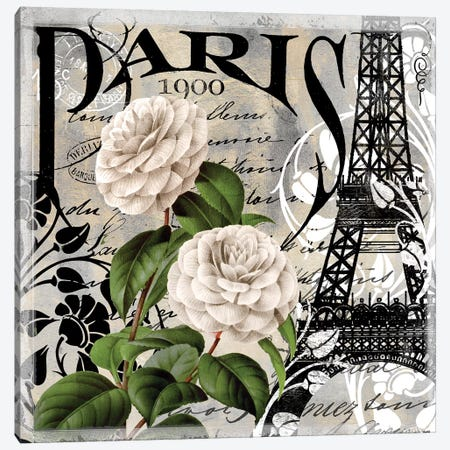 Paris Blanc II Canvas Print #CBY719} by Color Bakery Canvas Art