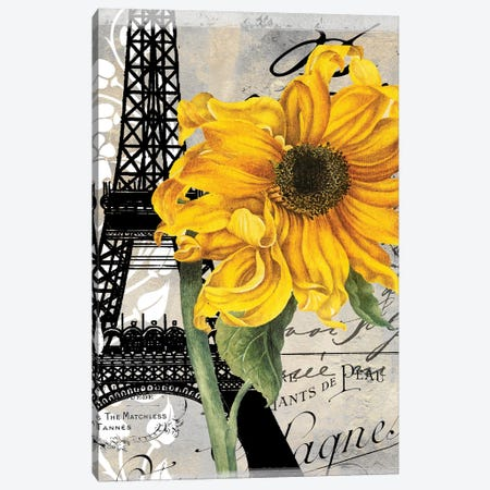 Paris Blanc III Canvas Print #CBY720} by Color Bakery Art Print