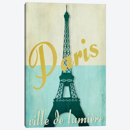 Paris City Of Light Canvas Print #CBY721} by Color Bakery Canvas Print