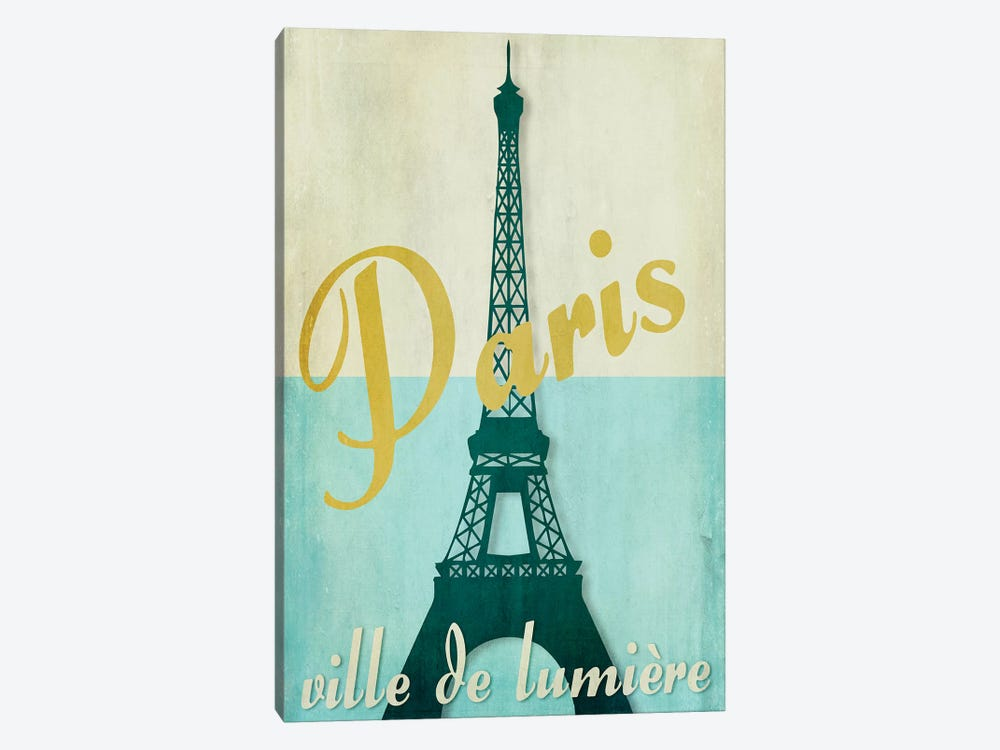 Paris City Of Light by Color Bakery 1-piece Canvas Art