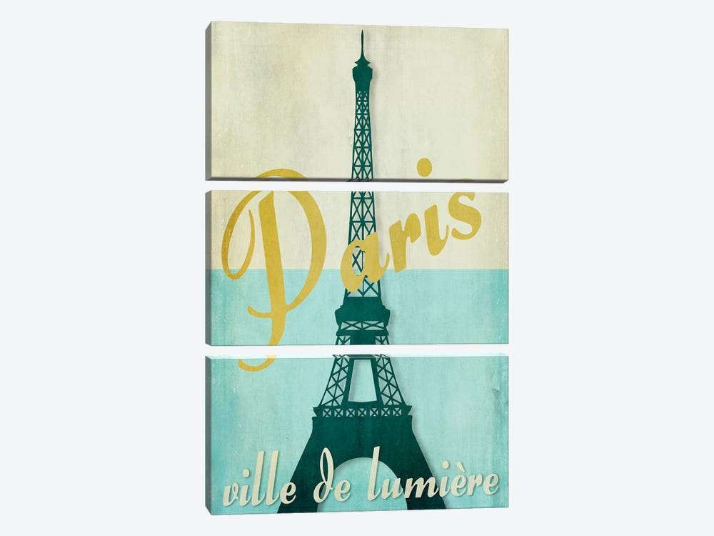 Paris City Of Light by Color Bakery 3-piece Canvas Artwork