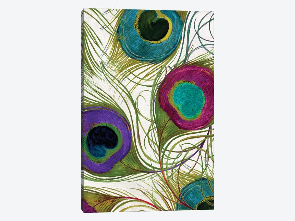 Peacock Feathers I by Color Bakery 1-piece Canvas Wall Art