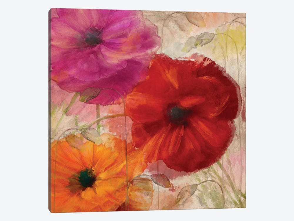 Penchant For Poppies I 1-piece Canvas Art
