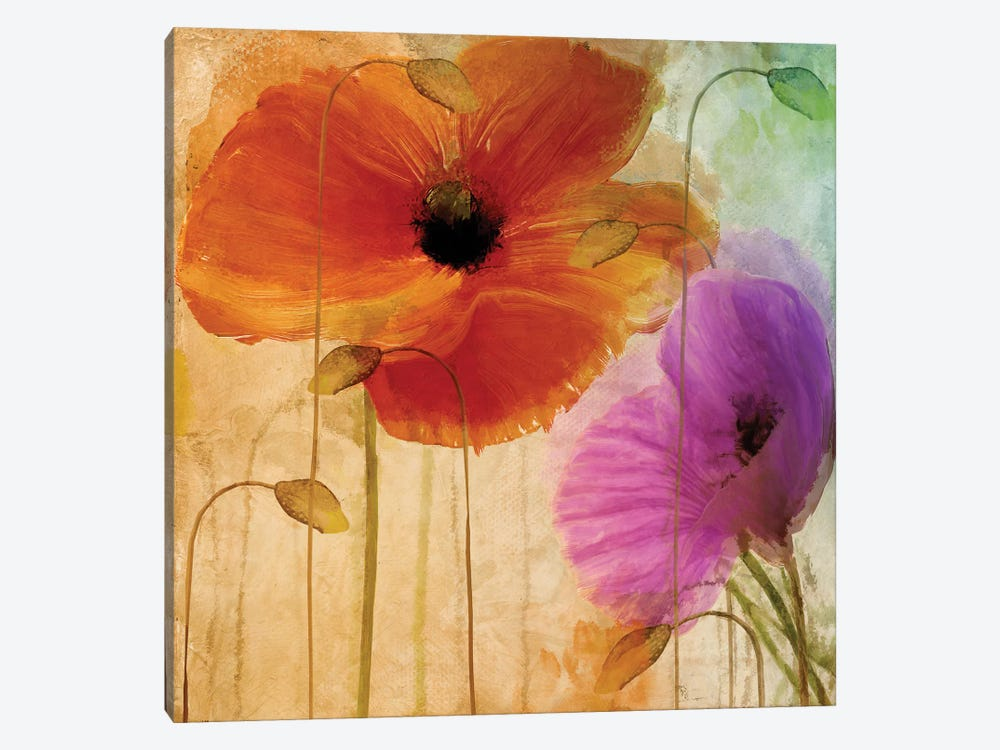 Penchant For Poppies II 1-piece Canvas Print