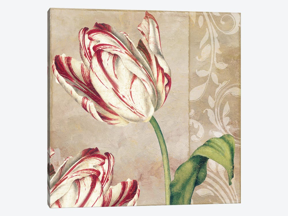 Peppermint Tulips I by Color Bakery 1-piece Canvas Print