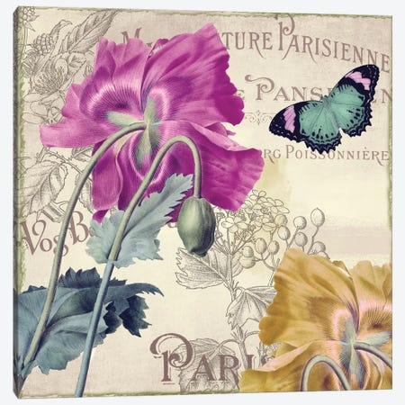 Petals Of Paris III Canvas Print #CBY775} by Color Bakery Art Print