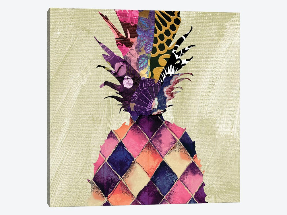 Pineapple Brocade I by Color Bakery 1-piece Art Print