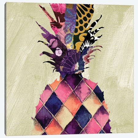 Pineapple Brocade I Canvas Print #CBY780} by Color Bakery Canvas Print