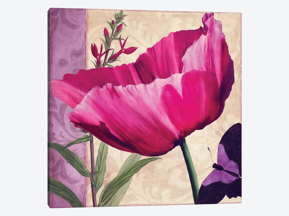 Pink Poppy I 1-piece Canvas Print