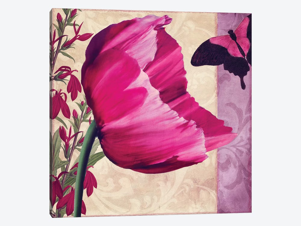 Pink Poppy II by Color Bakery 1-piece Canvas Art