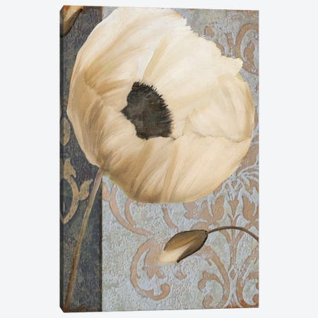 Poppy Brocade I Canvas Print #CBY791} by Color Bakery Canvas Art