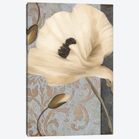 Poppy Brocade II Canvas Print #CBY792} by Color Bakery Canvas Art