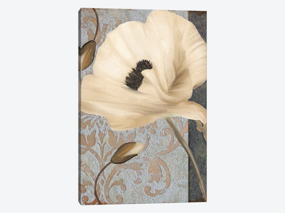 Poppy Brocade II 1-piece Canvas Art