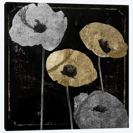 Poppyville I Canvas Print #CBY799} by Color Bakery Canvas Artwork