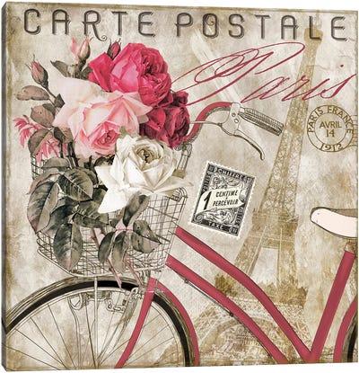 Postale Paris I Canvas Art Print