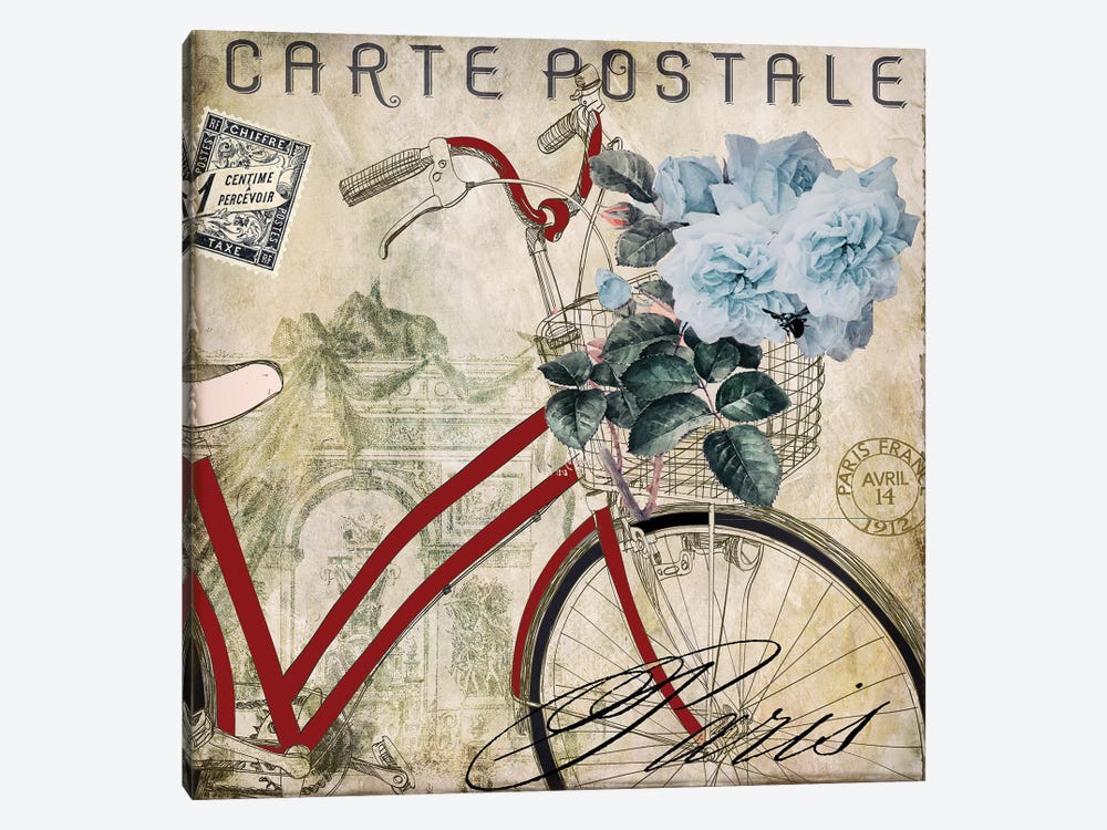 Postale Paris II by Color Bakery 1-piece Canvas Art Print