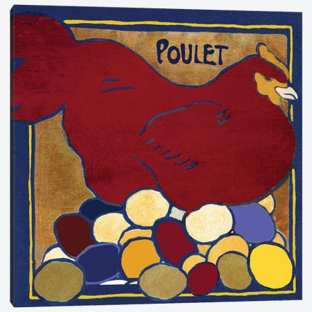 Poulets II Canvas Print #CBY808} by Color Bakery Canvas Artwork