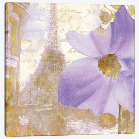 Purple Paris I Canvas Print #CBY816} by Color Bakery Canvas Artwork