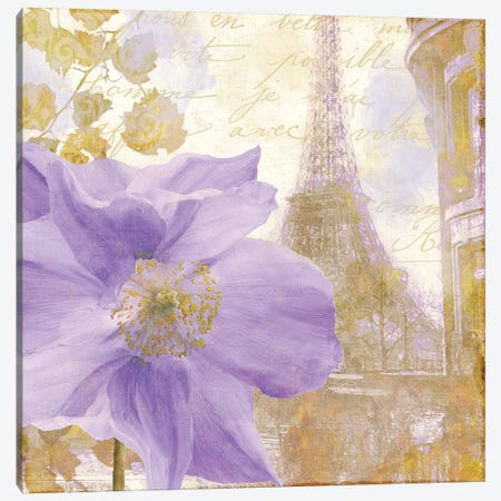 Purple Paris II Canvas Print #CBY817} by Color Bakery Canvas Art