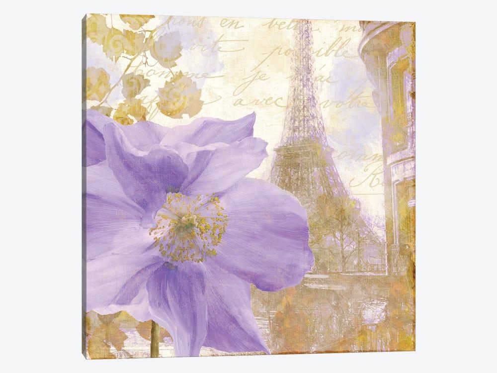 Purple Paris II by Color Bakery 1-piece Canvas Art Print