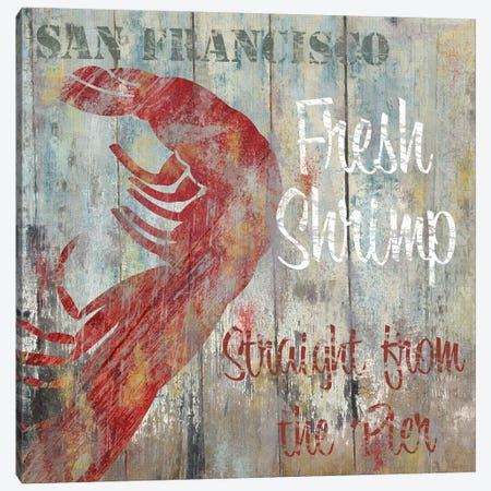 Resturant Seafood I Canvas Print #CBY820} by Color Bakery Canvas Wall Art