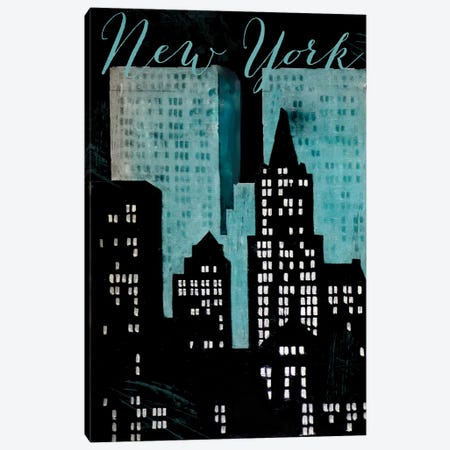 Retro Cities I Canvas Print #CBY823} by Color Bakery Canvas Artwork
