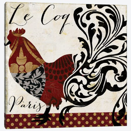 Roosters Of Paris I Canvas Print #CBY831} by Color Bakery Canvas Art Print