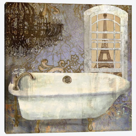 Salle de Bain I Canvas Print #CBY850} by Color Bakery Canvas Art Print