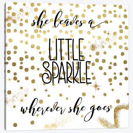 Sparkle Canvas Print #CBY923} by Color Bakery Canvas Art Print