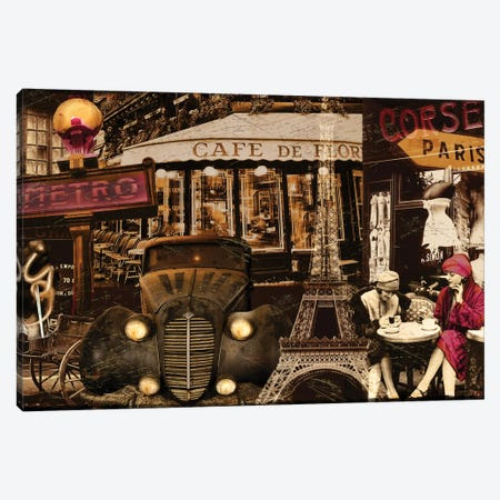 Streets Of Paris I Canvas Print #CBY928} by Color Bakery Art Print