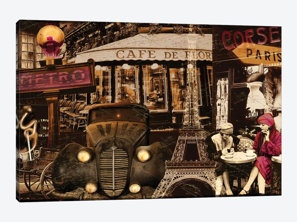 Streets Of Paris I 1-piece Canvas Wall Art
