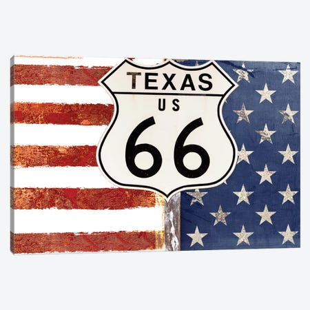Texas 66 Canvas Print #CBY954} by Color Bakery Canvas Art Print