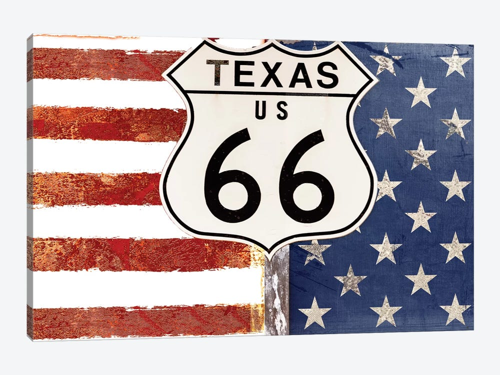Texas 66 by Color Bakery 1-piece Canvas Print