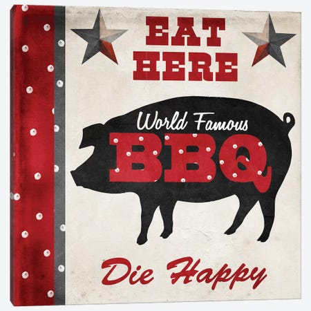 Texas BBQ II Canvas Print #CBY955} by Color Bakery Canvas Print