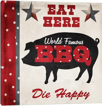 Texas BBQ II Canvas Art Print