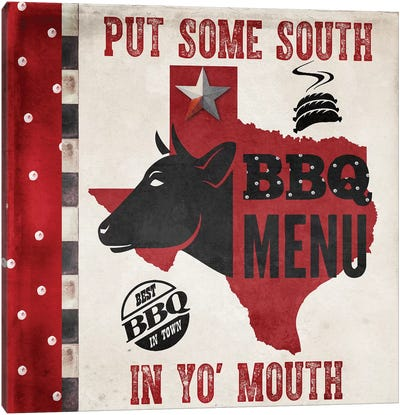 Texas BBQ IV Canvas Art Print