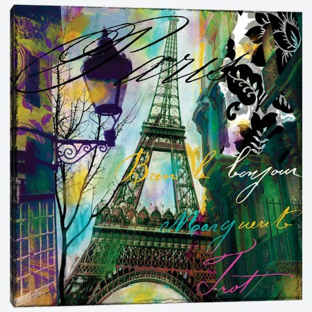 To Paris With Love I Canvas Print #CBY964} by Color Bakery Canvas Wall Art