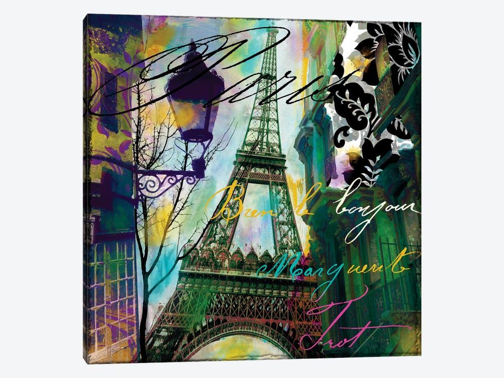 To Paris With Love I by Color Bakery 1-piece Canvas Artwork