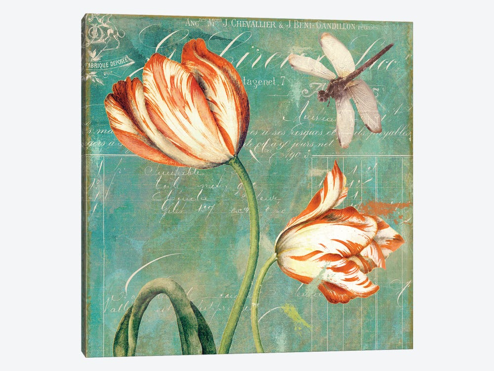 Tulips Ablaze I by Color Bakery 1-piece Canvas Art