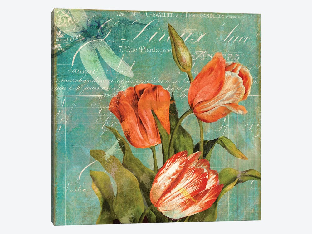 Tulips Ablaze III by Color Bakery 1-piece Canvas Art