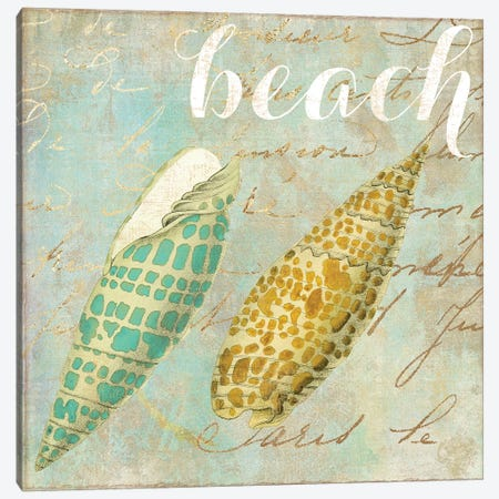 Turquoise Beach II Canvas Print #CBY985} by Color Bakery Canvas Wall Art