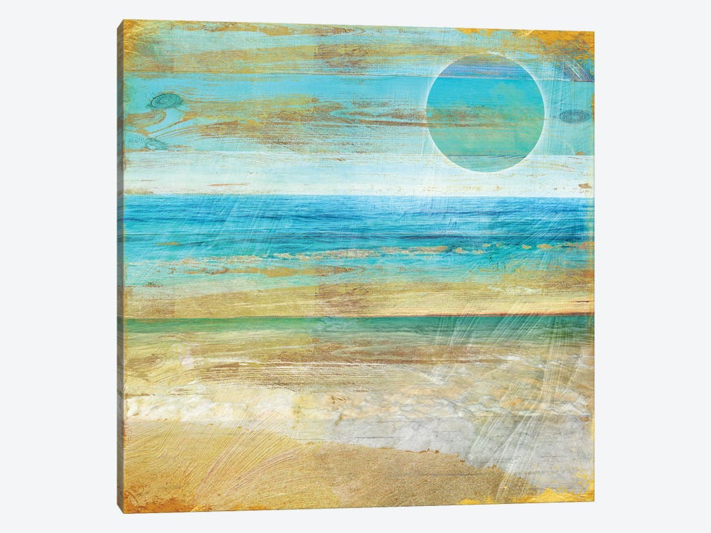 Turquoise Moon Day by Color Bakery 1-piece Canvas Print