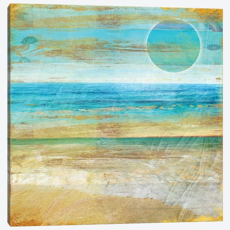 Turquoise Moon Day 3-Piece Canvas #CBY989} by Color Bakery Canvas Art Print