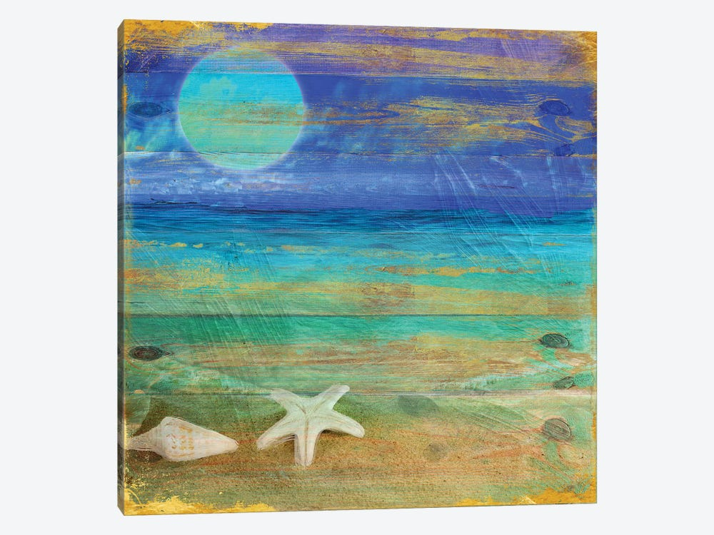 Turquoise Moon Night by Color Bakery 1-piece Art Print