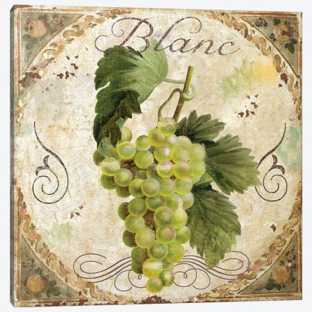 Tuscany Table Blanc Canvas Print #CBY993} by Color Bakery Canvas Wall Art
